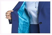 lining of blue suit