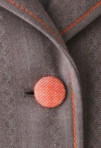 stitching and button